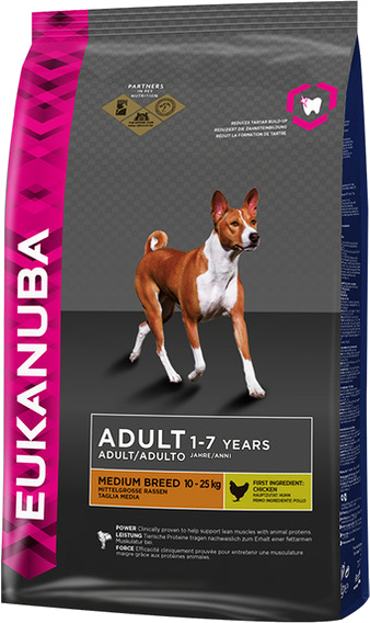 Корм для собаки Eukanuba Dog Adult Medium Breed