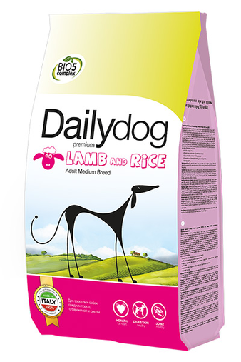 Корм для собаки Daily Dog Adult Medium Breed Lamb and Rice, мешок 20 кг