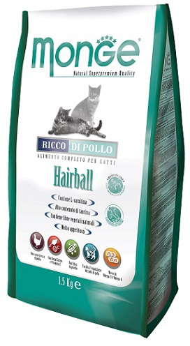 Корм для кошки Monge Cat Hairball, мешок 10 кг