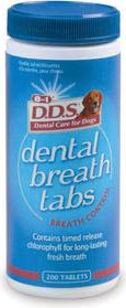 8 in 1 таблетки для освежения дыхания у собак Dental Breath Tabs с ментолом 200 таб.