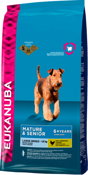 Корм для собаки Eukanuba Dog Mature & Senior Large Breed, мешок 15 кг