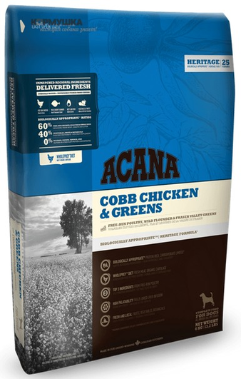 Корм для собаки Acana Chicken & Greens, мешок 2,27 кг