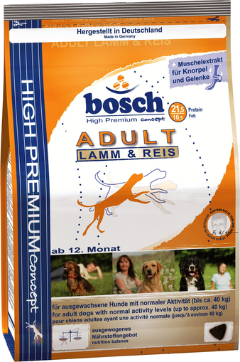 Корм для собаки Bosch Dog Adult Lamb & Rice, мешок 15 кг