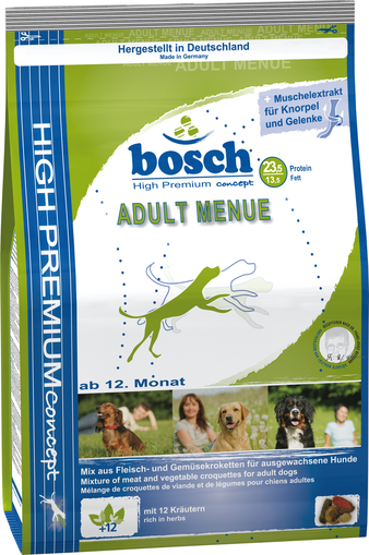 Корм для собаки Bosch Adult Menue, мешок 15 кг