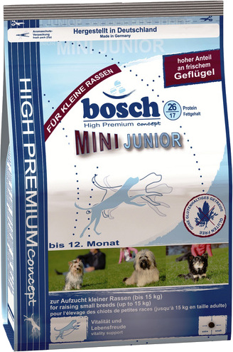 Корм для собаки Bosch Junior Mini, мешок 1 кг