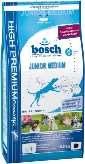 Корм для собаки Bosch Junior Medium, мешок 3 кг