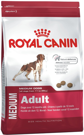 Корм для собаки Royal Canin Medium Adult, мешок 15 кг
