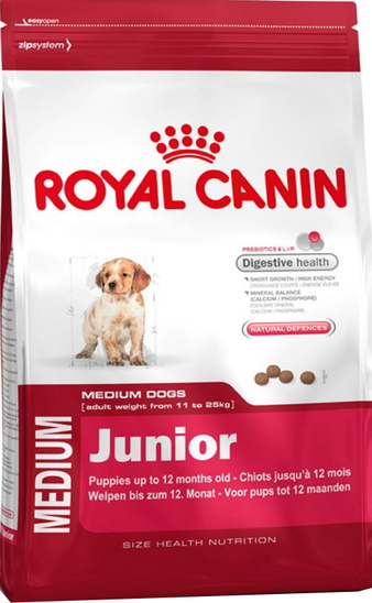 Корм для собаки Royal Canin Medium Junior, мешок 15 кг
